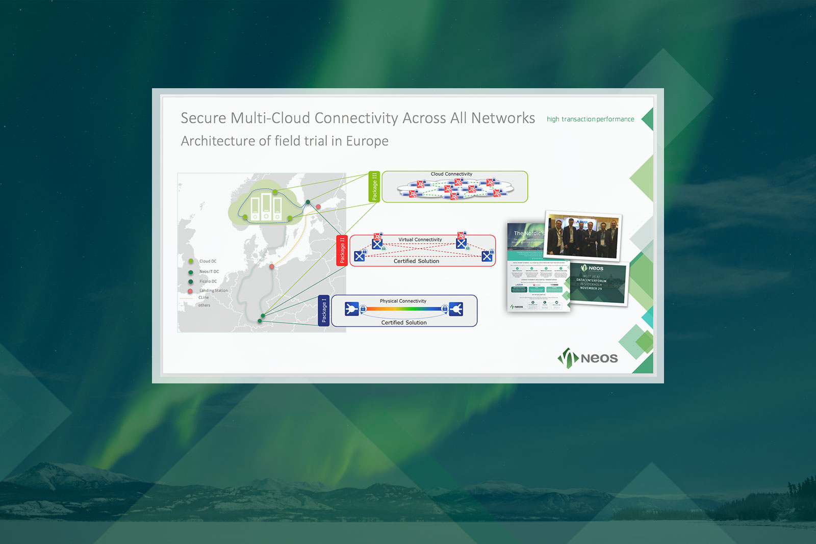 Neos IT Services, ppt folie, Proof of Concept Data Highway to the Nordics - Projektreferenzen